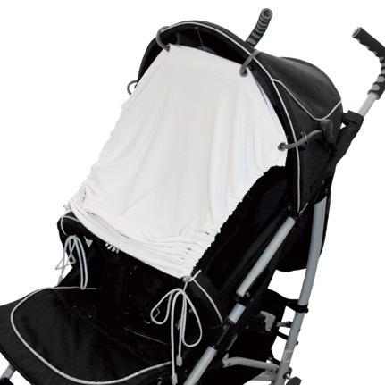 EMITEX® Sluneční UV clona na kočárek nebo autosedačku bílá