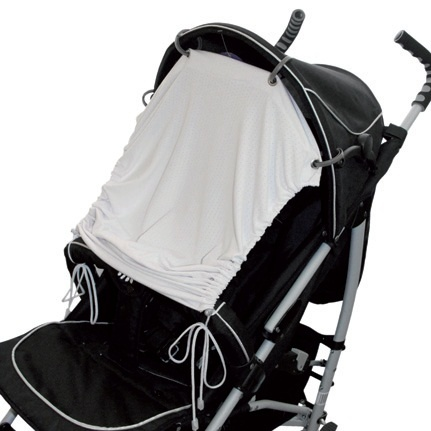 EMITEX® Sluneční UV clona na kočárek nebo autosedačku šedá