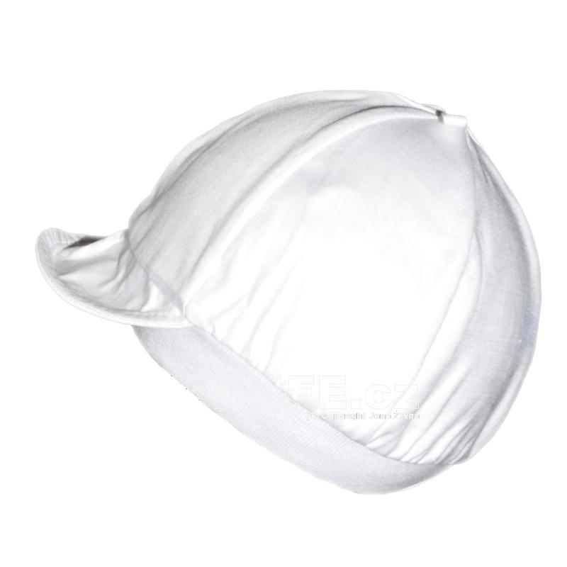 Agnesion Plátěná čepička s kšiltem velikost 62 (1) - bílá