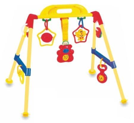 Babymix Dětská edukační hrazdička - žlutá