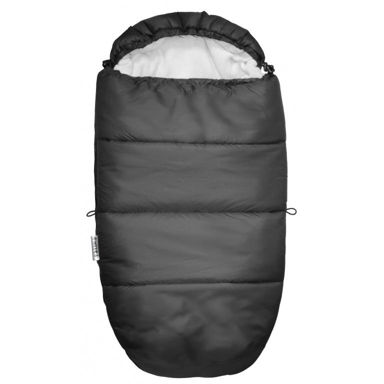 EMITEX® Fusak Mumie černý + fleece světle šedý