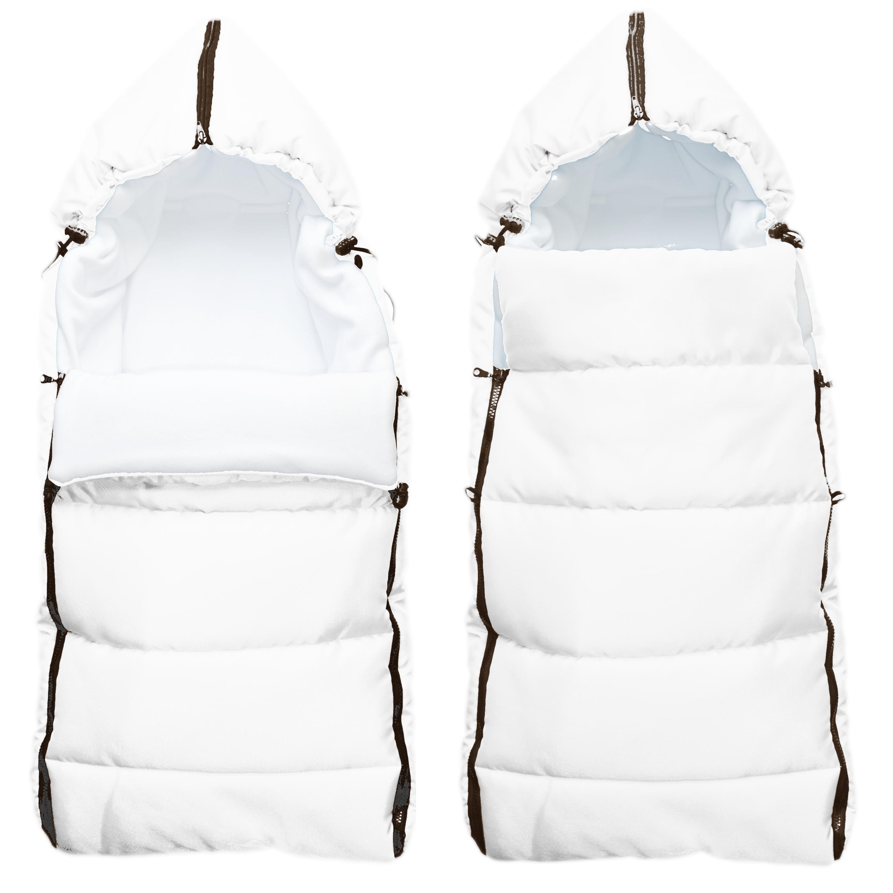 Babytex zimní fusak délka 105cm - bílá z venku/bílý fleece
