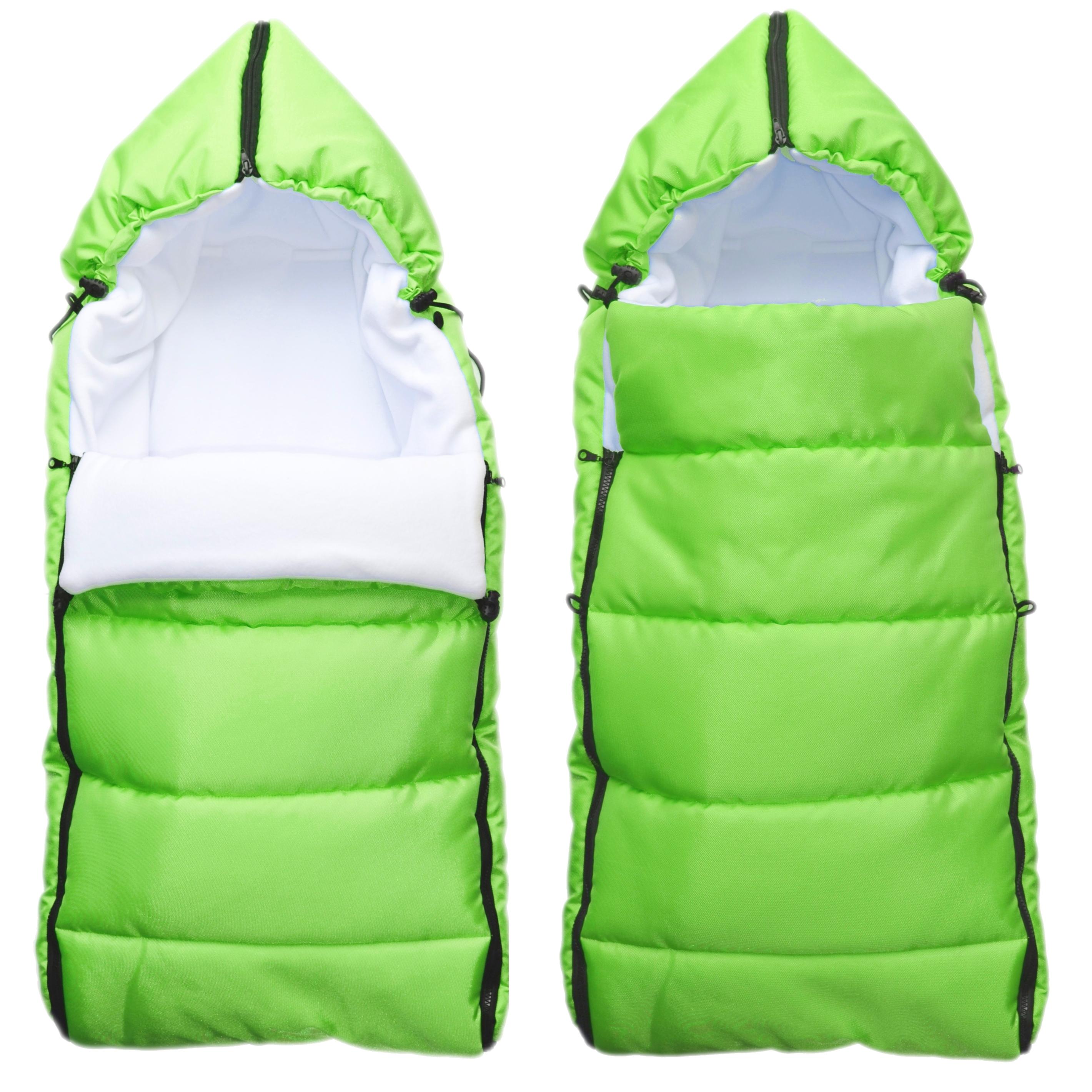 Babytex zimní fusak délka 105cm - zelená z venku/bílý fleece
