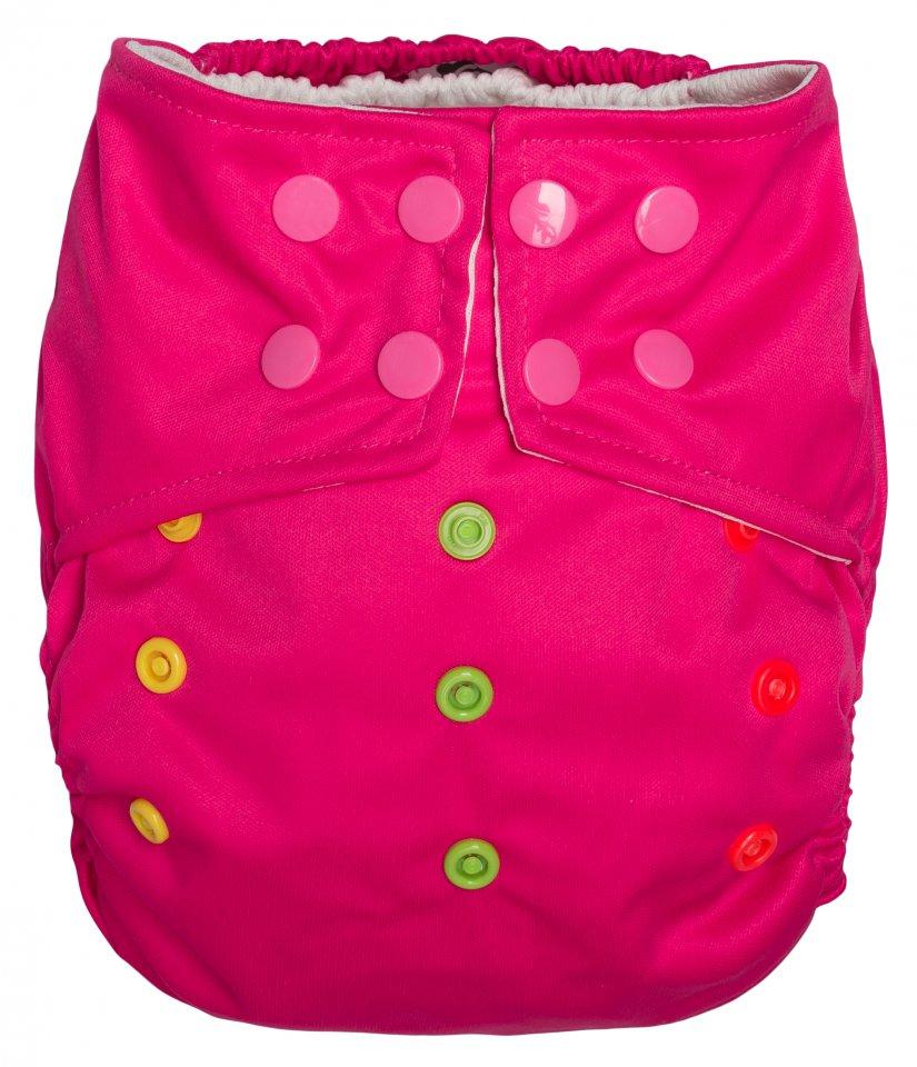 GMINI Universální plenkové kalhotky od 3 do 15kg - růžové (barevné druky)