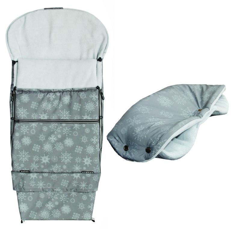 AKCE (rukávník ZDARMA) EMITEX® Fusak Combi 3v1 VLOČKA - šedý