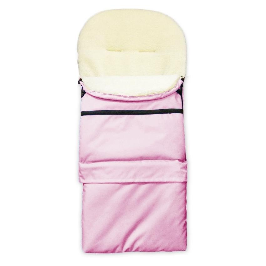 Zimní kombi fusak 3v1 Babytex OVČÍ VLNA - světle růžový