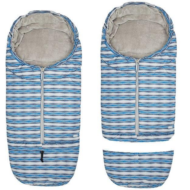 AKCE Gmini® Kombinovaný zimní fusak do kočárku - modrý potisk