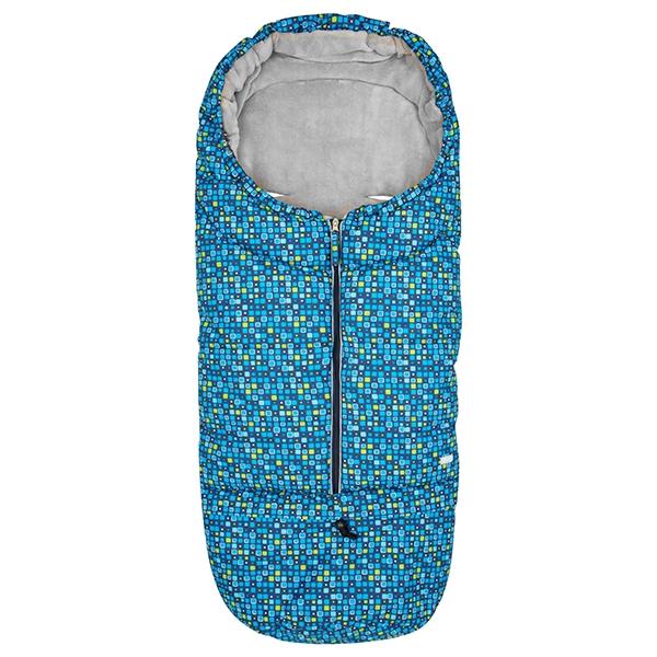 Gmini® Variabilní zimní fusak do kočárku - modré kostičky