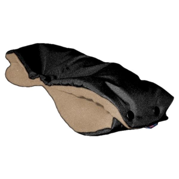 IVEMA rukávník na kočárek - černý/tm.béžová