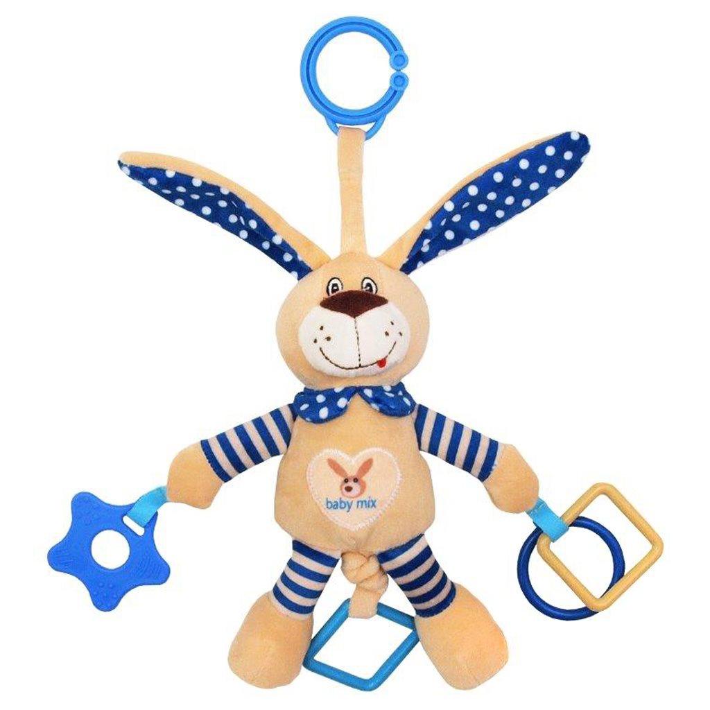 Babymix Dětská hračka s vibrací - králík modrý