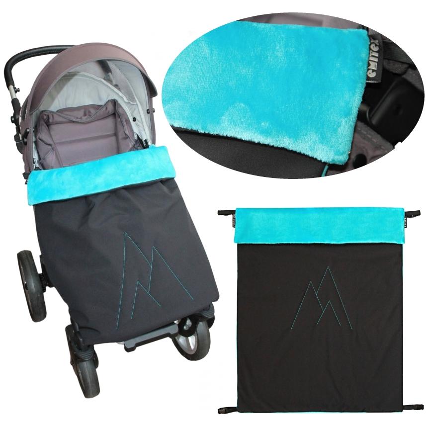 Emitex® Nánožník/deka POLAR softshell velvet - černý/aqua