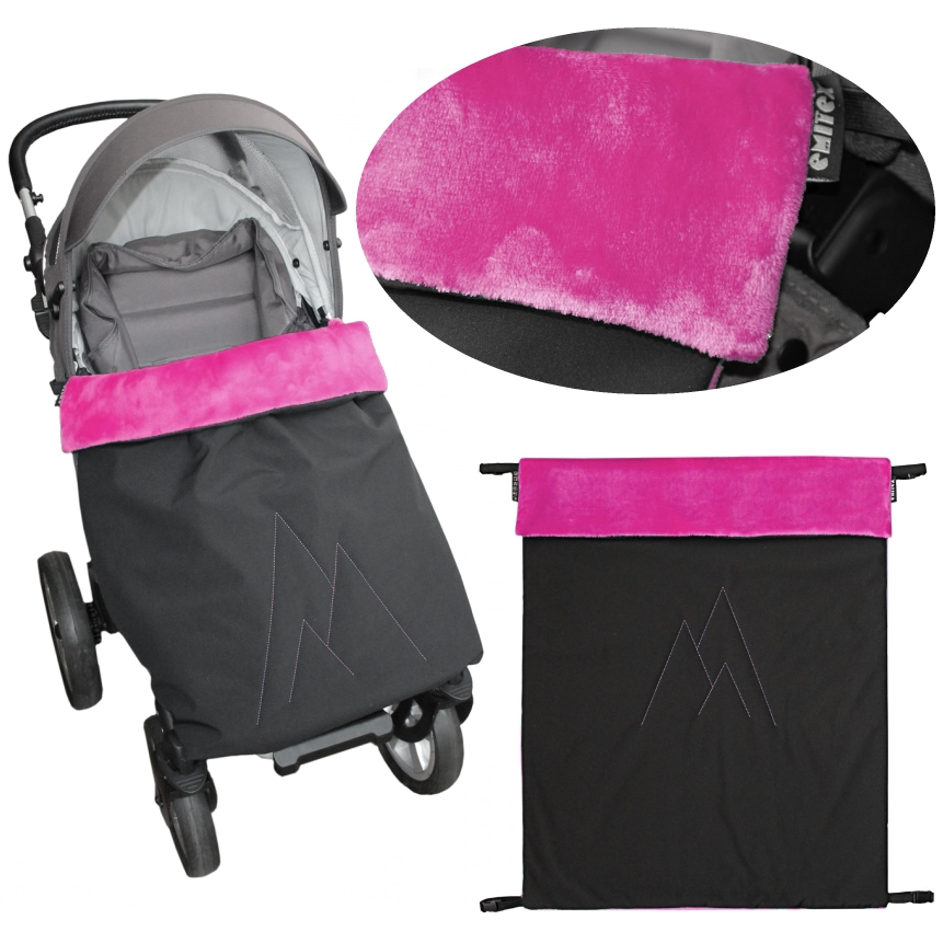 Emitex® Nánožník/deka POLAR softshell velvet - černý/fuchsie