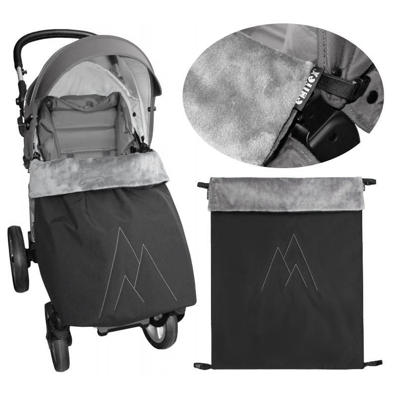Emitex® Nánožník/deka POLAR softshell velvet - černý/šedý