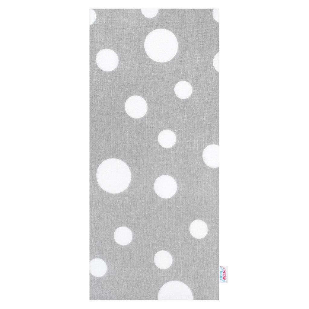 Flanelová plena 70x80 cm - Šedá bílý velký puntík