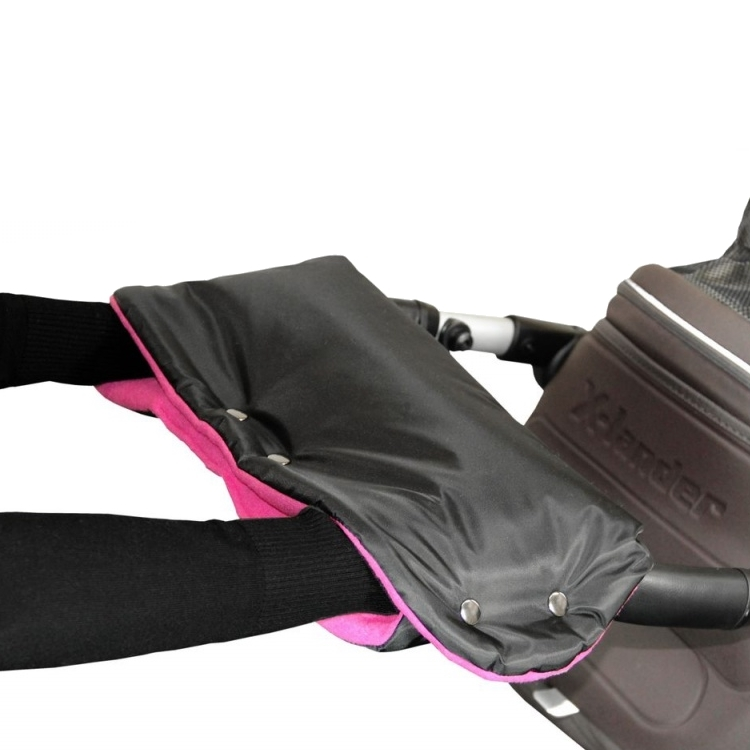 Emitex rukávník ke kočárku černý/fuchsie (nový vylepšený tvar)