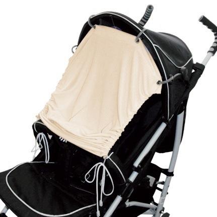 EMITEX® Sluneční UV clona na kočárek nebo autosedačku béžová
