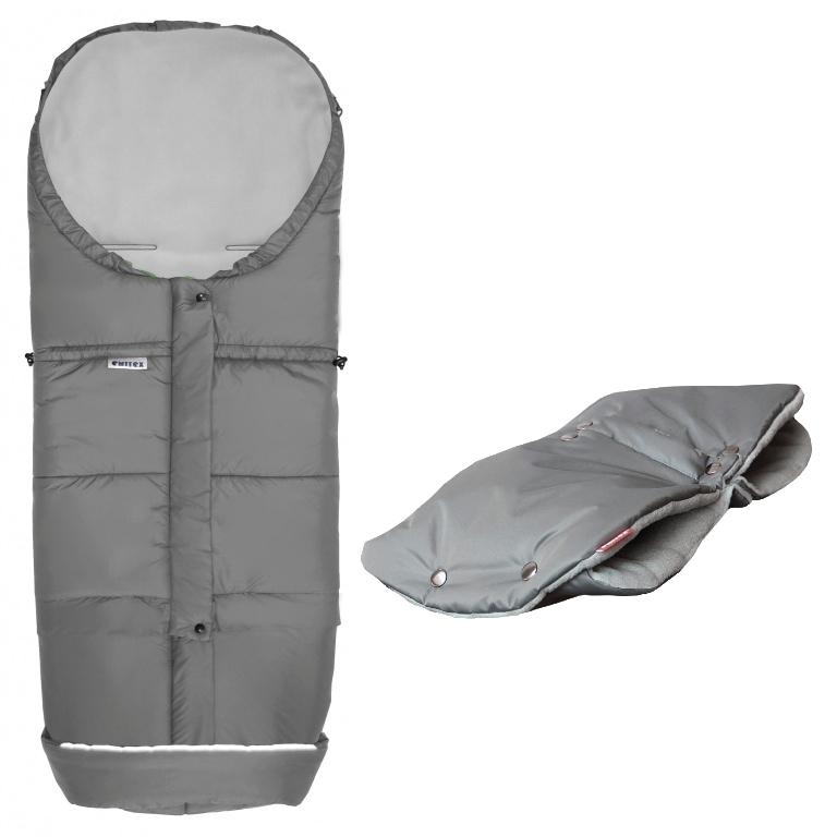 AKCE (rukávník DUO 2v1 zdarma) Fusak Emitex MONTI 3v1 zimní pytel Šedý/šedý