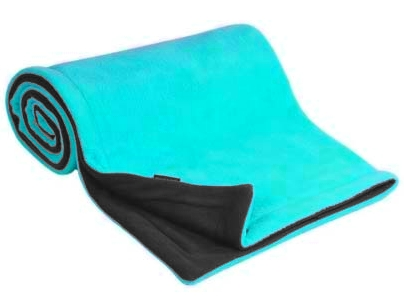 Emitex® Deka fleece 70x100 cm - Antracit/aqua