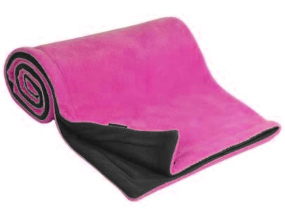 Emitex® Deka fleece 70x100 cm - Antracit/fuchsie