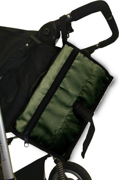 Emitex přebalovací taška ke kočárku 32x22 cm Khaki zelená AKCE